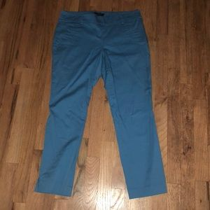 Cropped teal pants